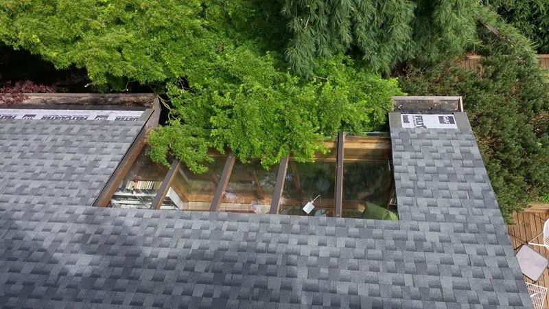 big skylight on the roof | Army Roofing Inc.
