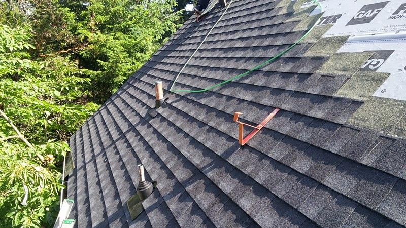 Delta roofing in progress | Army Roofing Inc.