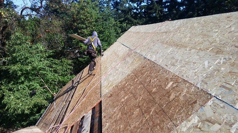 wood stitching on the roof | Army Roofing Inc.