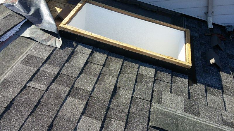 completed project on the roof skylight in Delta | Army Roofing Inc.