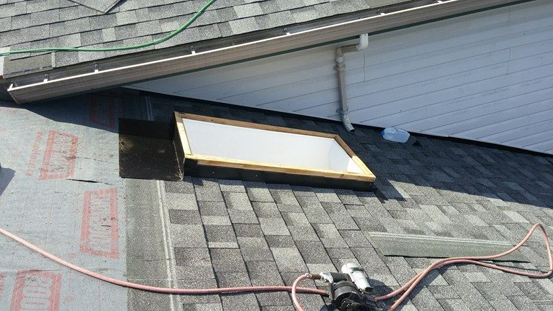 skylight project on the roof | Army Roofing Inc.