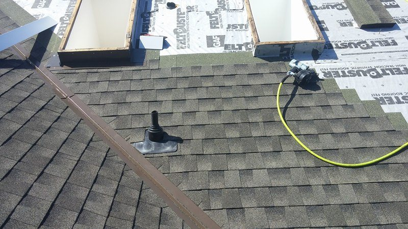 close look completed roof in Delta | Army Roofing Inc.