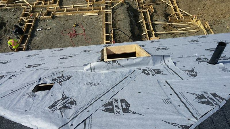 roofing project in Delta - progress | Army Roofing Inc.
