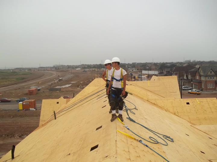 Delta Roofers on a new project | Army Roofing Inc.